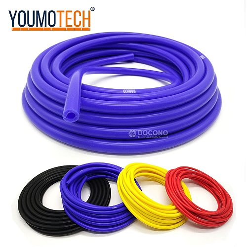 Auto Vacuum Silicone Hose 100% silicone 5 Meter 3mm/4mm/6mm/8mm Intercooler Coupler Pipe Tube Silicone Tubing Blue Black Red