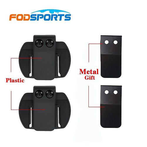 2 pcs Fodsports V6 V4 Helmet Headset Clip Motorcycle helmet intercom Clip Motorcycle Bluetooth Intercom Bracket Accessories