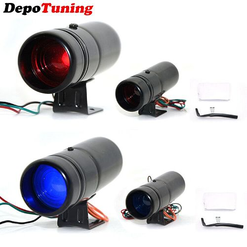DepoTuning Red and Blue Led Adjustable Tachometer Rpm Tacho Gauge Pro Shift Light 1000-11000 Universal