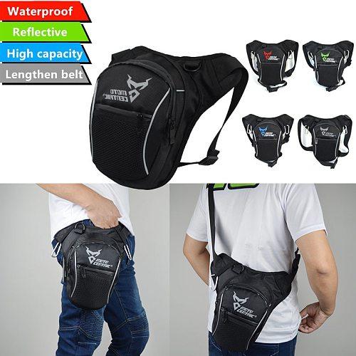 Fashion Motorcycle Drop Leg Bag Hip Bum Fanny Pack Waterproof Motorcycle Bag Outdoor Casual Waist Bag Motorcycle bike Bag Black