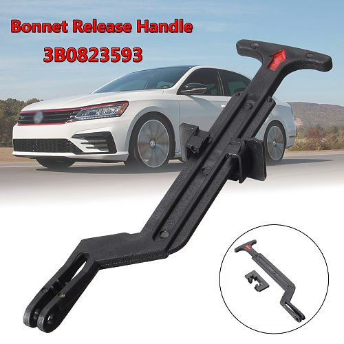 1pc 3B0823593 Bonnet Hood Release Rod Lock Latch Handle for VW Passat B5 B5.5 1998 1999 2000 2001 2002 2003 2004