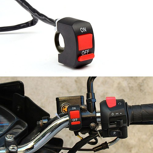 Universal Motorcycle Switches Motorcycle Handlebar Flameout Switch ON| OFF Button for  Motor ATV Bike DC12V/10A