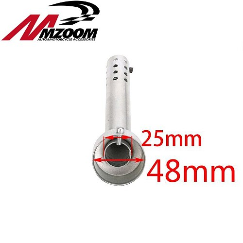 Universal 48mm Motorcycle Angled Exhaust Insert Baffle End Can DB Killer Silencer Muffler elbow 175MM Length