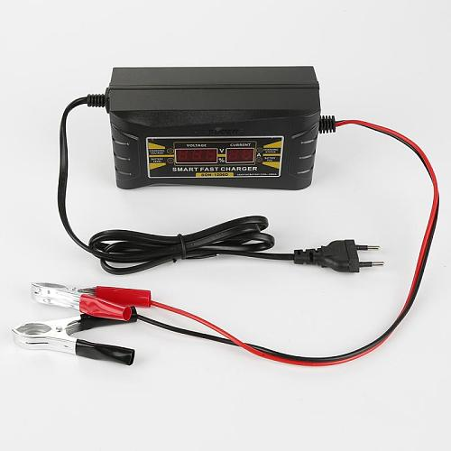 1pc Motorcycle Car Battery Charger Fast Charging MOTOPOWER 12V/6A LCD Display Maintainer For Car RV ATV Boat Universal EU/US NEW