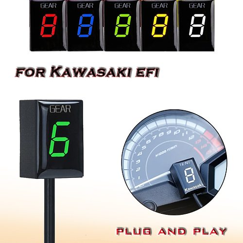 Gear Display Indicator For Kawasaki ER6N Z1000SX Ninja300 Z1000 Z800 Z750 versys 650 Z400 Motorcycle Ecu Direct Mount 1-6 Speed