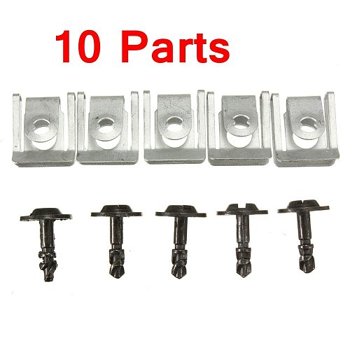 5 Pairs Splashguard Clamps Engine Undertray Clips Shield Cover For BMW E38 E39