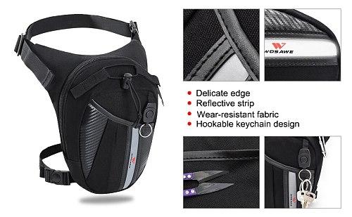 WOSAWE Motorcycle Leg Bag Fanny Pack Racing Waterproof Moto Cycling Tactical Waist Pack Airsoft Tactical Drop Leg Panel Utility
