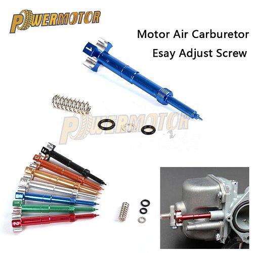 CNC Easy Adjustable Fuel Mixture Screw CNC Air Fuel Mixture Screw For Motorcycle ATV Dirt Bikes FCR MX Carburetor Motor 4 Stroke
