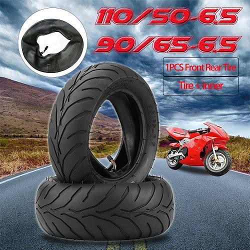 Front Rear Tire+Inner Tube 90/65/6.5 110/50/6.5 for 47cc 49cc Mini Pocket Bike Car Styling