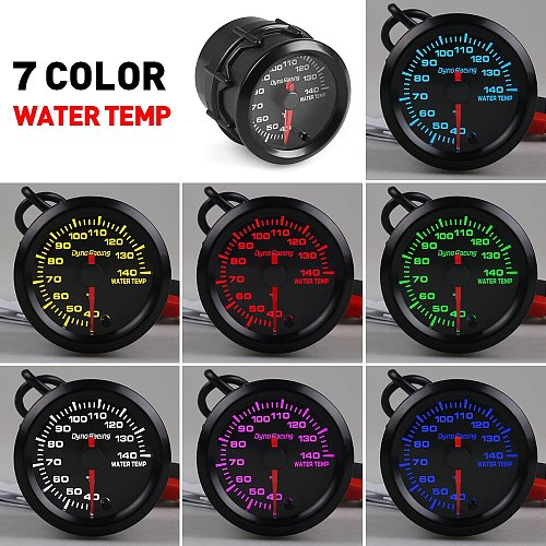 Dynoracing 2  52mm  7 Colors boost gauge bar psi EGT EXT water temp oil temp oil press Air fuel ratio gauge voltmeter tachometer