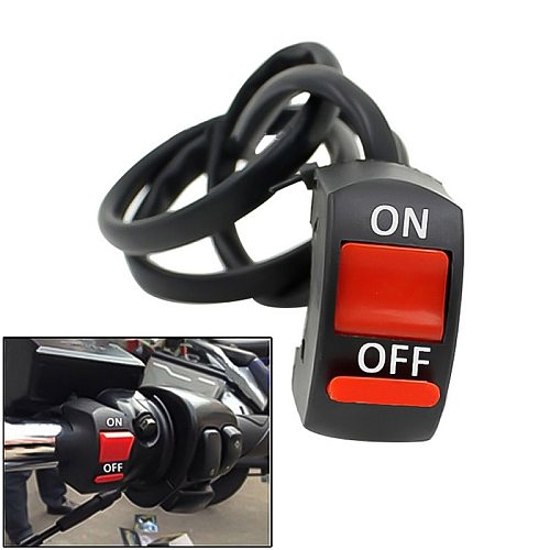 Universal Motorcycle Double Flash Light Handlebar Flameout Control Switch ON  Button For Moto Motor ATV Bike 1 Pc 22mm