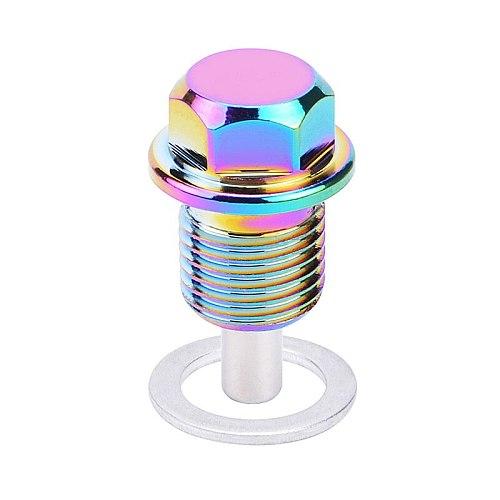 SPEEDWOW M12*1.25 M12*1.5 M12*1.75 M14.1.25 M14*1.5 Magnetic Oil Sump Nut Oil Plug Nut Magnetic Magnetic Oil Plug Nut For BMW