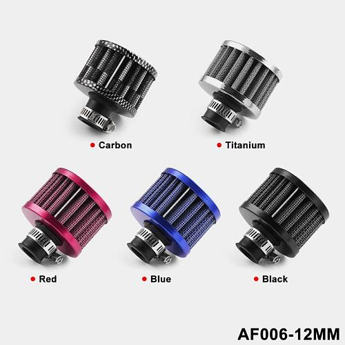 Universal 12mm Car OIL Cold Air Intake Crank Case Turbo Vent Breather Filter Car Modification Air Filter Car Accessories