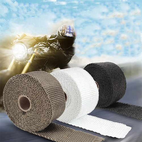 5cm*5/10/15/20M Car Motorcycle Exhaust Thermal Exhaust Tape Exhaust Heat Tape Wrap Pipe Wrap Shields Manifold Header Insulation