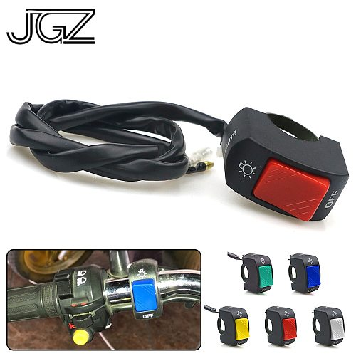 5 Colors Motorcycle On-Off Switch Push Button 22mm Handlebar Switches 12V ATV Electronic Bike Scooter Motorbike Bullet Connector