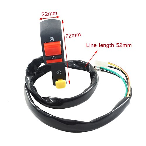 BOZXRX Motorcycle Handlebar Switch Electric Starter Handlebar Start & Stop ATV On-Off Button Flameout Switch Refit Accessories