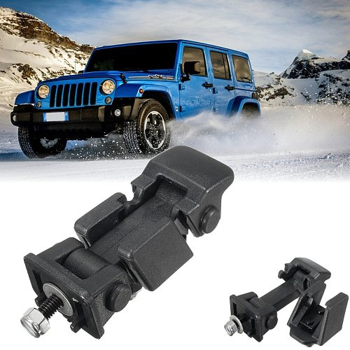 New 1 Set Black Hood Lock Bracket Latches Buckle Holder For Jeep /Wrangler 2007-2016