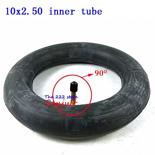 10x2.50 tube inner tyre with bent Valve for Electric Scooter Balancing Hoverboard self Smart Balance 10 inch Inner tire