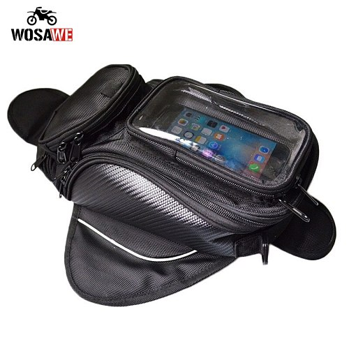 Motorcycle Tank Bag Waterproof Motorbike Oil Fuel Saddle Bag Magnetic Shoulder Bag Phone Case For IPhone Xiaomi Big Touch screen