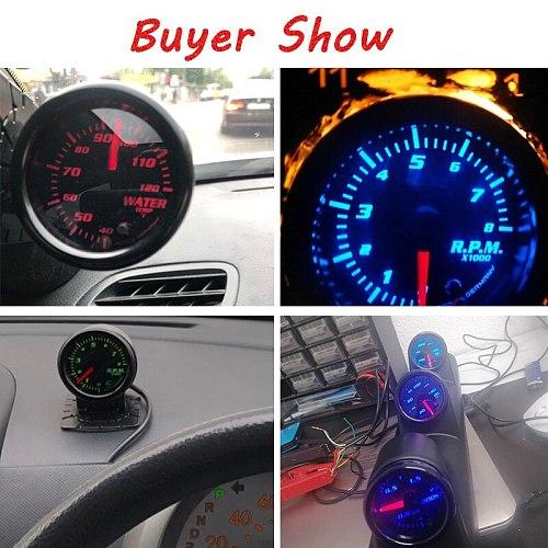 7 color 2  52mm tacometro rpm meter LED Car Auto Tachometer Gauge gauge vacuum car Meter Pointer Universal for boat motor