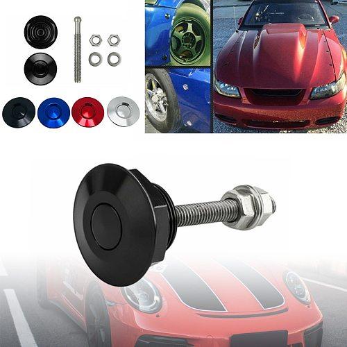 32mm/1.25inch Car Push Button Bonnet Hood Pin Lock Clip Kit Quick Release Latch Engine Bonnets Accessories Car Styling Universal