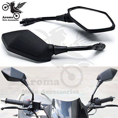10mm 8mm screw black universal dirt pit bike rear view mirrors motocross part ATV Off-road motorbike rearview mirror for KTM husqvarna honda suzuki yamaha xj6 ybr 125 tdm 850 xt 600 motorcycle accessories moto mirrors