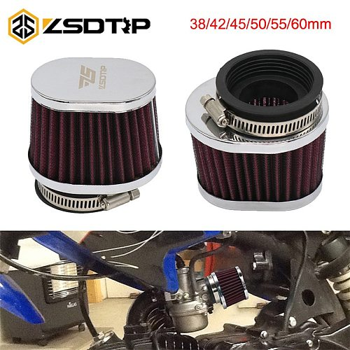ZSDTRP 38 42 45 50 55 60mm Motorcycle Air Filter Motocross Scooter Air Pods Cleaner for PWK 21/24/26/28/30/32/33/34/35