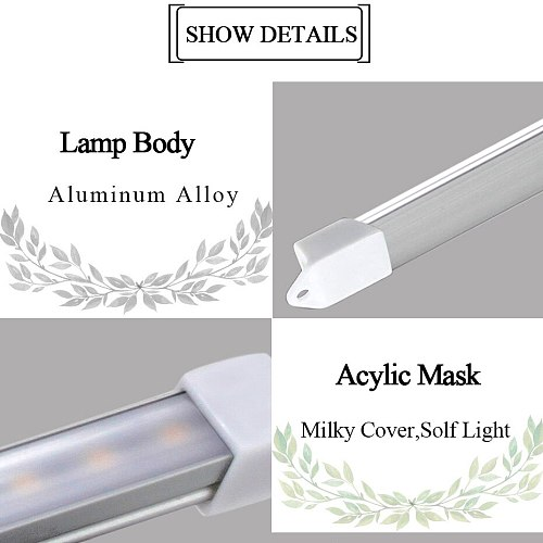 New USB LED Strip Bar Light DC5V SMD 2835 3W 5W 300lm 550lm USB LED Desk Lamps For Bedside Reading Working Studying Lighting