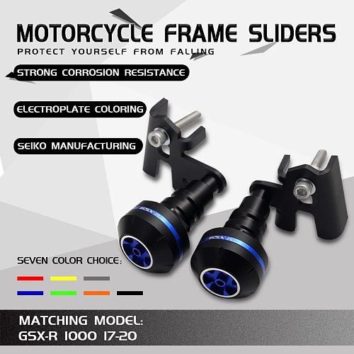 Motorcycle CNC Aluminum Falling Protection Frame Sliders Crash Protector For GSXR1000 GSXR 1000 GSX-R1000 2017 2018 2019 17 18