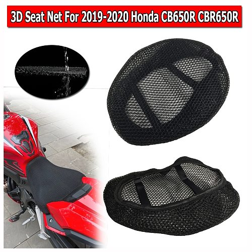 For Honda CB650R CBR650R Seat Cowl Cushion Cover Net 3D Mesh Protector Motorcycle Accessories CB CBR 650R 2019 2020