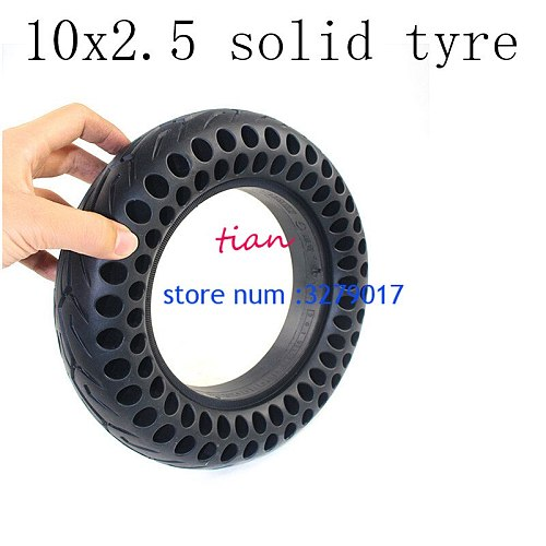 Free Shipping 10Inch Solid Tyre10x2.50Tire Fits Electric Scooter Balance Drive Bicycle Tyre 10x2.5Inflatable Tyre and Inner Tube