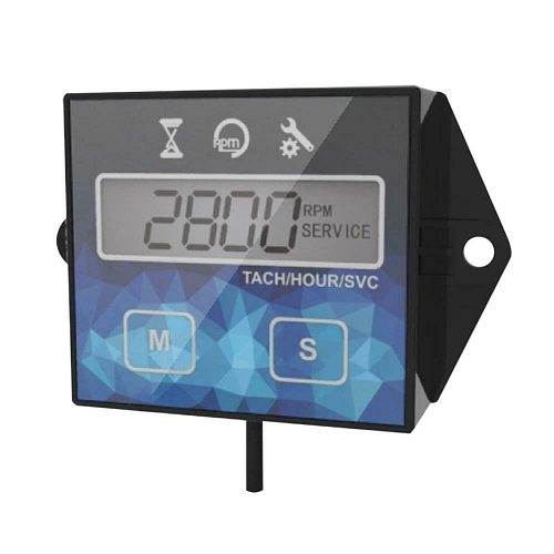 1 X Tachometer Hour Meter Digital Waterproof Engines Motorcycle ATV Boat Meters Tachometer Hour Meter Speed Timer Reset Timers