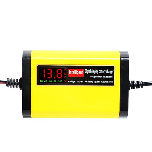 12V 2A Smart Car Battery Charger Automatic Auto Motorcycle Lead Acid AGM GEL 12 V Volt Moto Intelligent  3 Stages Lead Acid 220