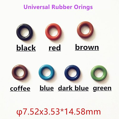 wholesale 20pcs Universal Injector Rubber Oring For GB3-100 ASNU08C O-Rings Top Quality Fuel Injector repair kits
