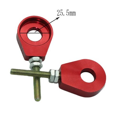 1pair 7 Colors 12mm Rear Wheel Axle Hole Chain Tensioner Adjuster for Motorcycle Modification Parts Accessories