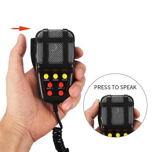 2020 Tone Sound Car Emergency Siren Car Siren Horn Mic PA Speaker System Emergency Amplifier Hooter 12V 100W