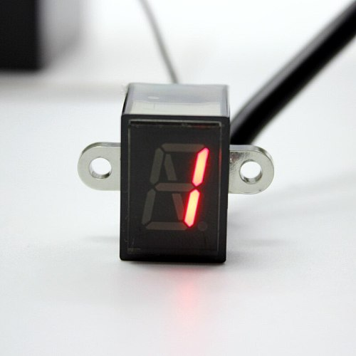 Nuoxintr 6 Speed Black Universal Motorcycle Digital Display Led Motocross Off-road Moto Light Neutral Gear Indicator Monitor