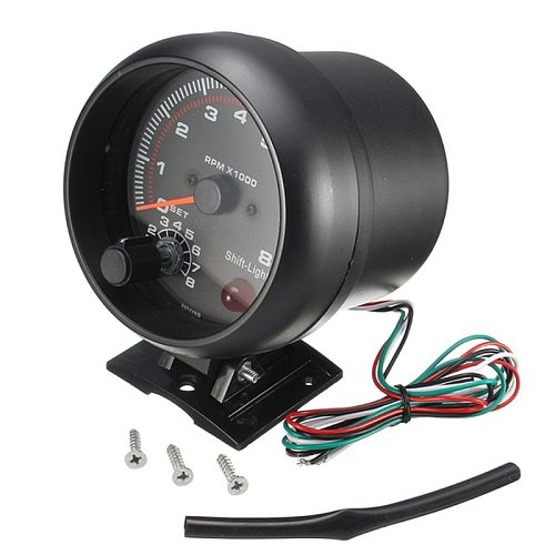 Hot sale Waterproof 12v Car Led Shift Light 0-8000 Rpm New Tachometers Tacho Gauge Meter