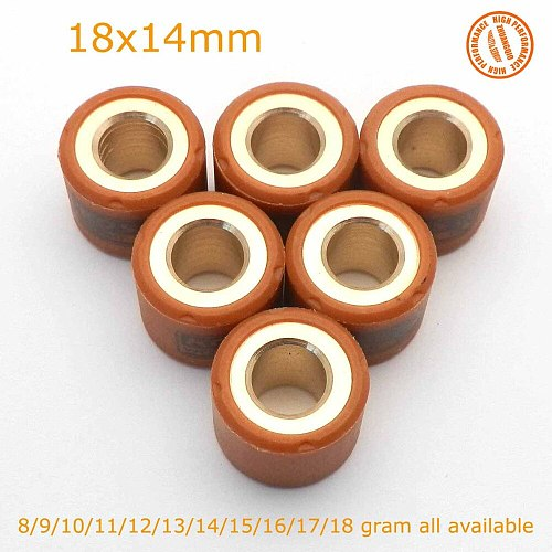 Performance Variator Slider Roller Weights 18X14mm 8 - 18g gram For GY6 150 125CC KOSO 157QMJ Scooter 4 stroke Go Kart