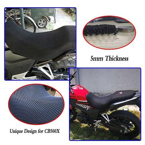 CB 500X Rally Bike Motorcycle Mesh Seat Cover Cushion Pad Guard Insulation Breathable Sun-proof Net For Honda CB500X CB500 X
