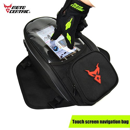 Waterproof Motorcycle Tank Bag Mobile Phone Navigation Bag Motorbike Magnetic Fixed Oil Tank Bag Moto Shoulder Bag Travel Bag