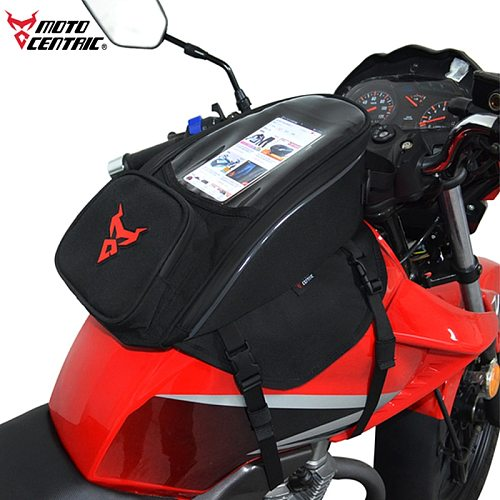 MJ MOTO Top 2L Screen Big Storage Motorcycle tank Bags Motorbike Oil Fuel Bag Magnetic Motocross Motorcycle Tank Bags Saddle Ba
