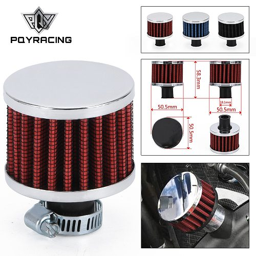 Universal 12mm Car Air Filter for Motorcycle Cold Air Intake High Flow Crankcase Vent Cover Mini Breather Filters