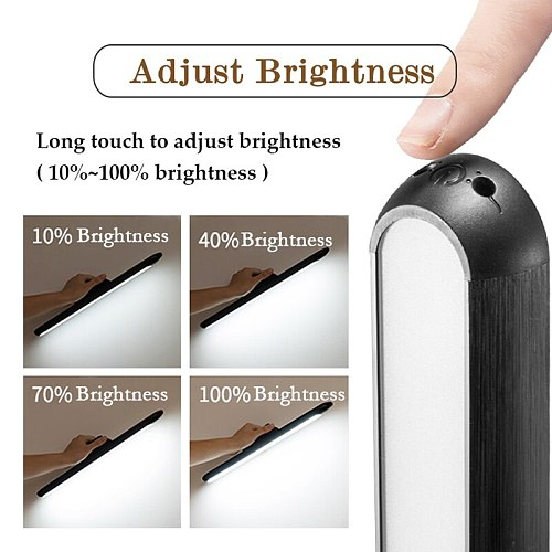 2020 New Dropship Hanging Magnetic Table Lamp 16PCS LED Lamp Chargeable and Eye-protect Desk Lamp Stepless Dimming Night lights