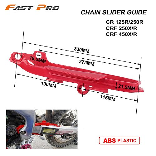 Off Road Motorcycle Chain Slider Guide Plastic Fork Protective Adhesive For HONDA CR125R CR250R CRF250R CRF250X CRF450R CRF450X