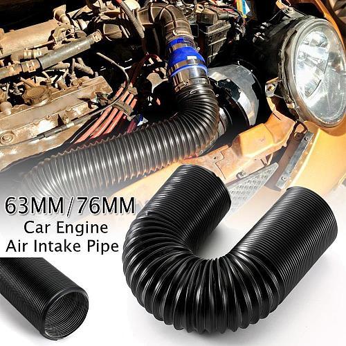 1M 63/76mm Car Engine Flexible Air hose Air Intake Pipe Inlet Hose Tube Car Air Filter Intake Cold Air Ducting Feed Hose Pipe