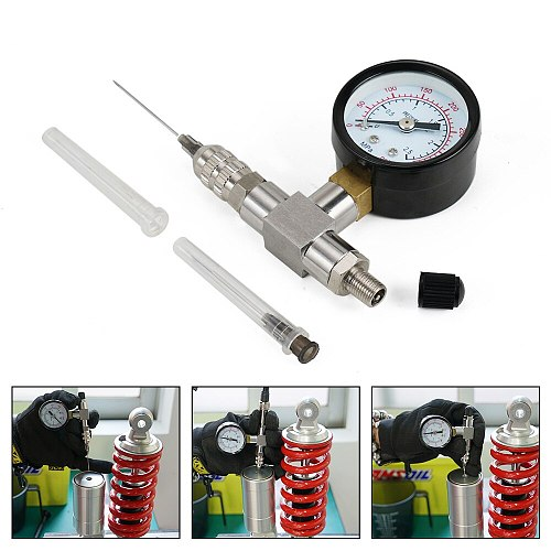 Suspension Shock Nitrogen Needle Fill Tool Gauge Stainless Steel 350PSI For Yamaha YZX For Polaris RZR's For Arctic Cat Fox