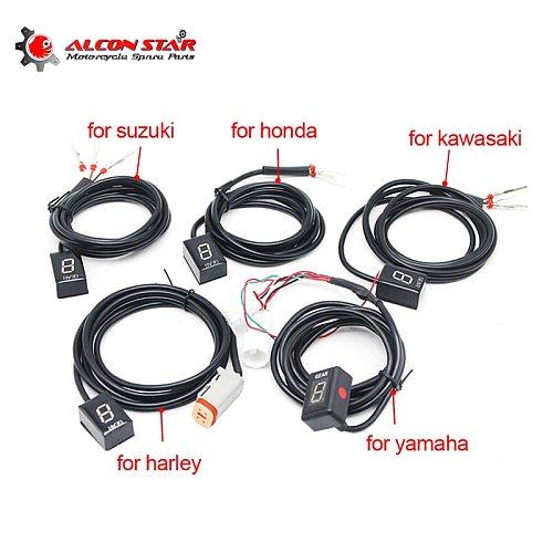 Alconstar-1-6 Gear Ecu Plug Mount Motorcycle EFI Speed Gear Display Indicator For Suzuki for Honda for Yamaha for Kawasaki