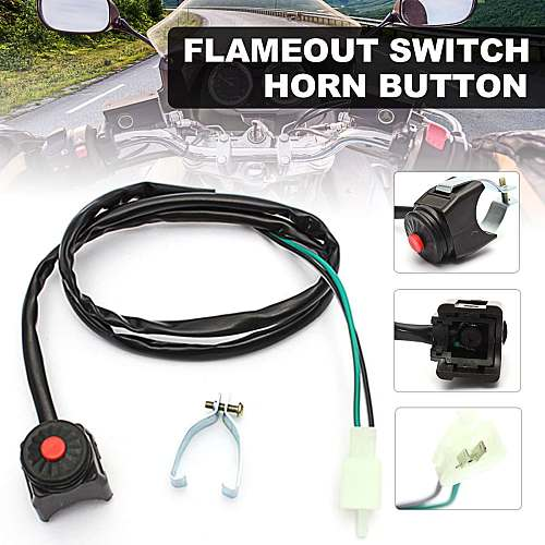 7/8  22mm Universal Kill Flameout Switch Horn Button Stop Handlebar Motorcycle Motorbike