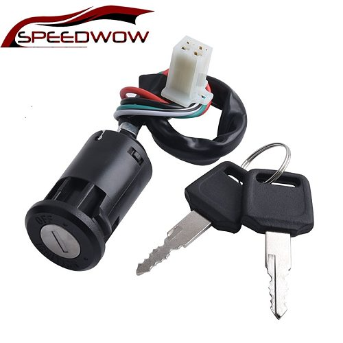 SPEEDWOW Universal 50-125CC Motorcycle  Ignition Switch Key With Wire For Honda/Quad Yamaha Suzuki Scooter ATV